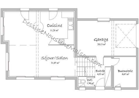 plan maison rdc 3 chambres plans de maisons contemporaines catalogue et plans