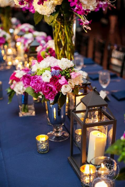 fuchsia hot pink wedding color ideas deer pearl flowers