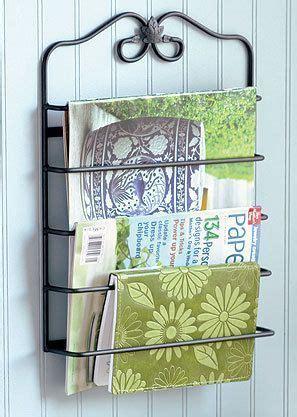 longaberger wrought iron wall mounted magazine rack  iron wall wrought iron magazine rack
