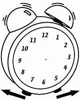 Clock Coloring Analog Blank Printable Worksheets Watches Bulk Faces Bulkcolor sketch template