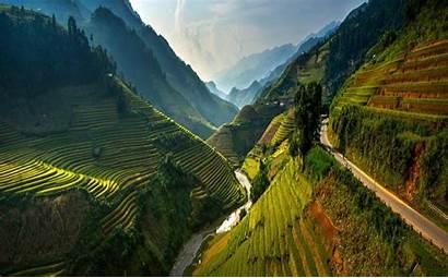 Vietnam Wallpapers Nature Terraces Rice