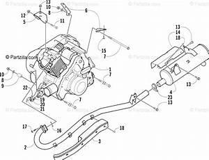 Arctic Cat Atv 2004 Oem Parts Diagram For Engine And