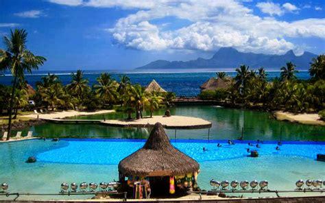 Wallpaper Beauty Of Nature Tahiti Islands Resort Is A