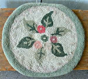 vintage chair pad hooked by eitherorfinds on etsy