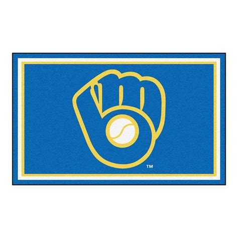 New York Yankees Area Rug by Fanmats Mlb Milwaukee Brewers Blue 3 Ft 10 In X 6 Ft