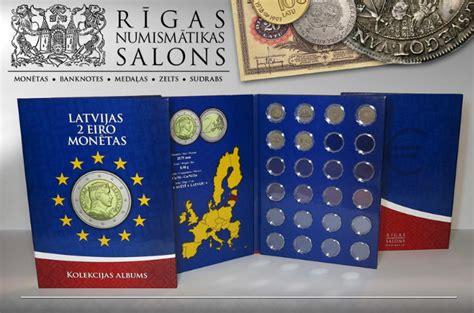 Monētu albums Latvijas 2 eiro monētām - Latvijas eiro monētas