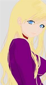 Random blonde anime girl by What-is-left on DeviantArt