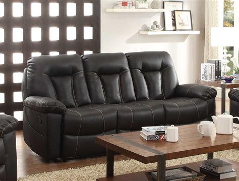 homelegance reclining sofa reviews homelegance cade double reclining sofa black bonded
