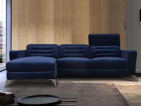 Divano Angolare Blu : Divano Angolare Relax Elettrico In Velluto 2 Colori Diane
