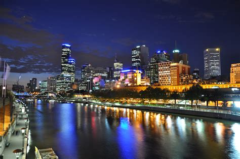 Melbourne Cbd And Yarra River From Princes Bridge Flickr