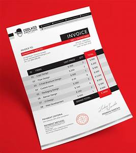 15 best free invoice templates for graphic designers 2018 With best invoice design