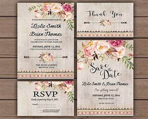 floral wedding invitation printable boho chic wedding With free printable boho wedding invitations