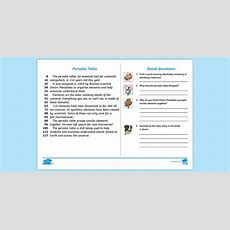 * New * Uks2 Periodic Table Daily News 60second Read Activity Cards