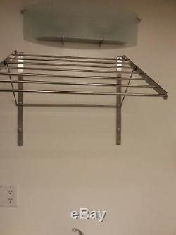 ikea grundtal clothes drying rack stainless steel adjustable
