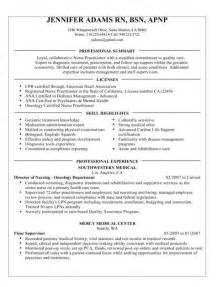 Experienced Nursing Resume Samples