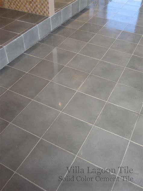 Solid Color Encaustic Cement Tile Installations   Villa