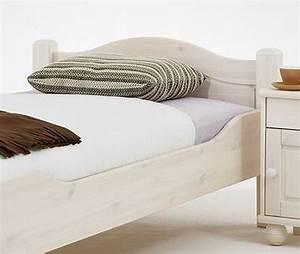 Bett Landhausstil Weiß 90x200 : massivholz bett 90x200 jugendbett kiefer hohes fu teil ~ Bigdaddyawards.com Haus und Dekorationen
