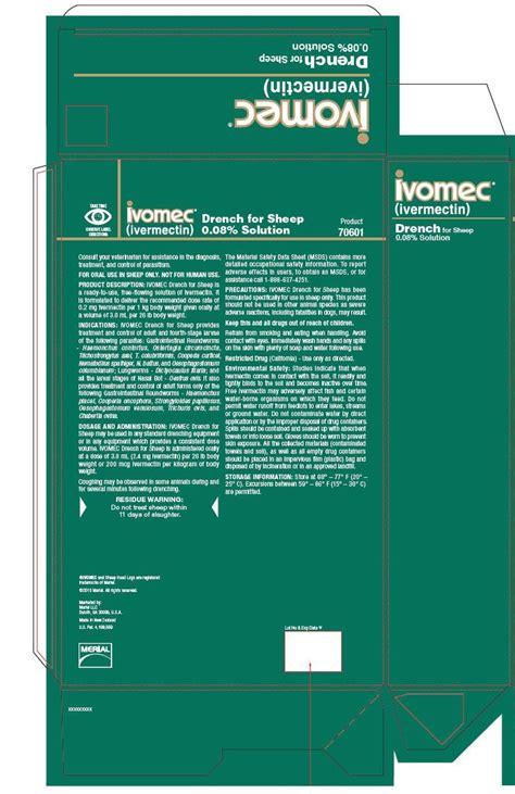 ivomec fda prescribing information side effects