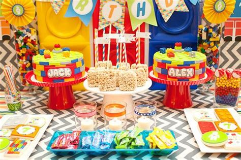 A Bright And Colorful Boys' Lego Birthday Party