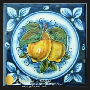 Piastrelle, fasce in ceramica di Caltagirone dipinte a