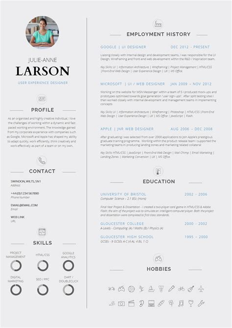 Great Cv Templates by 13 Slick And Highly Professional Cv Templates Guru