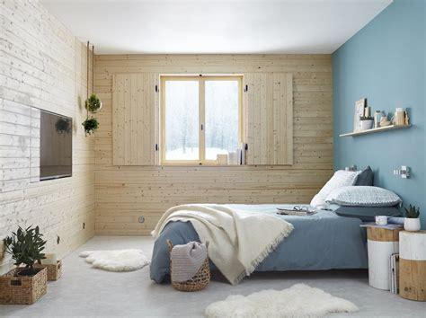 une ambiance chaleureuse dans la chambre avec des couleurs naturelles leroy merlin