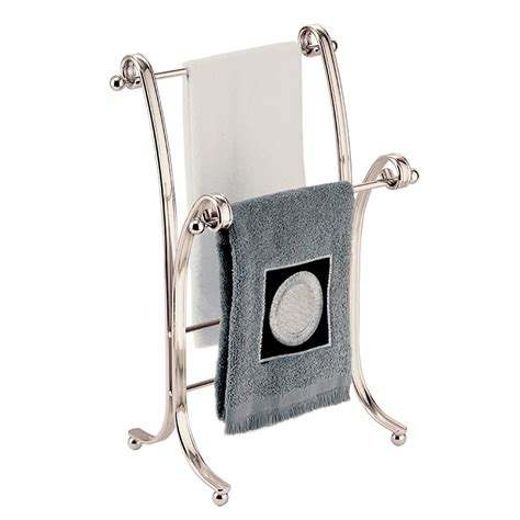elegant  standing hand towel rack satin