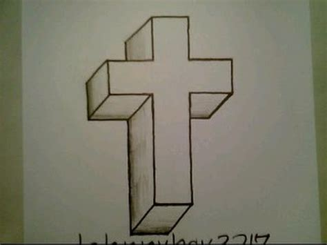 How To Draw Crosses In 3d Easy