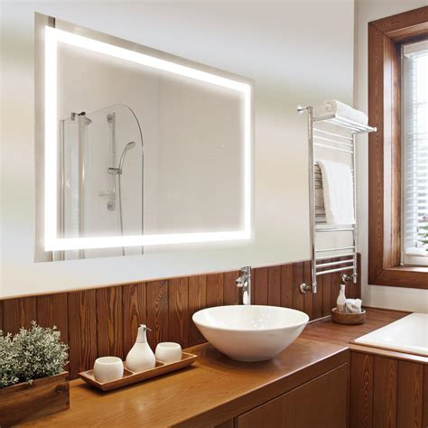bathroom vanity mirrors at fergusons dyconn edison 72 in x 38 in led wall mounted backlit