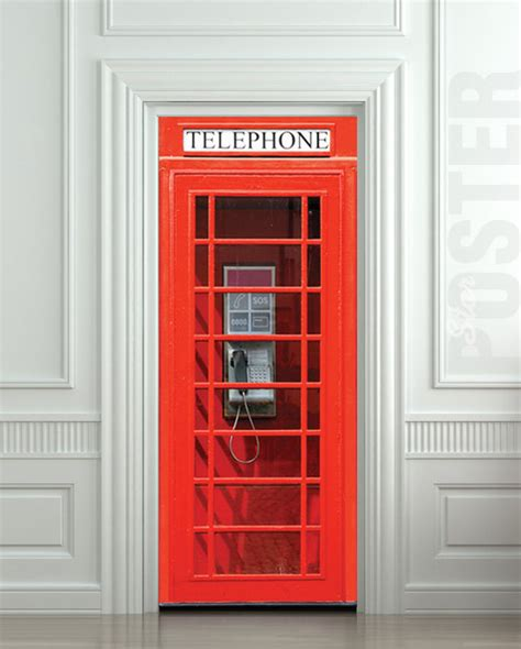 removable wall murals australia door wall sticker telephone box self adhesive by