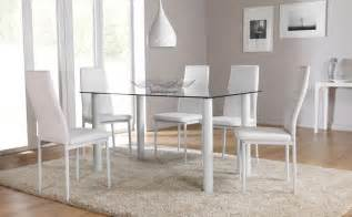 glass dining room table set lunar glass dining room table and 4 6 chairs set white ebay