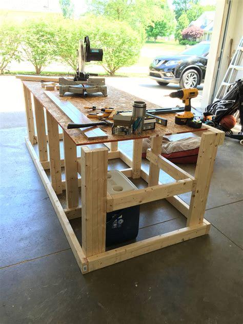 built  mobile workbench   garage mobile
