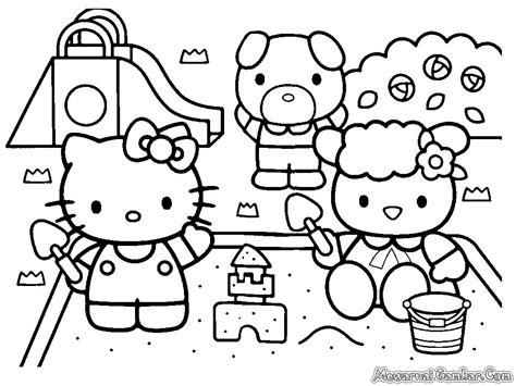 Paling Dicari Contoh Gambar Hello Kitty Untuk Mewarnai Gambar Mewarnai