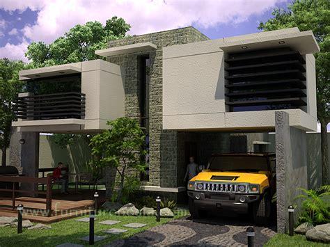 model garasi mobil minimalis modern  unik