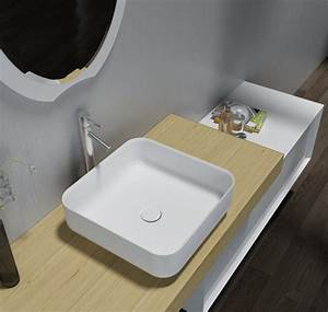 Mineralguss Waschbecken Reinigen : mineralguss aufsatzbecken waschbecken quadrat pb2120 ~ Lizthompson.info Haus und Dekorationen