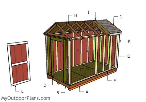 6 X 12 Shed Plans by 6x12 Shed Roof Plans Myoutdoorplans Free Woodworking