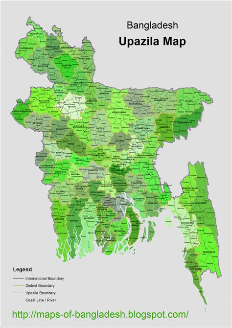 bangladesh upazila map