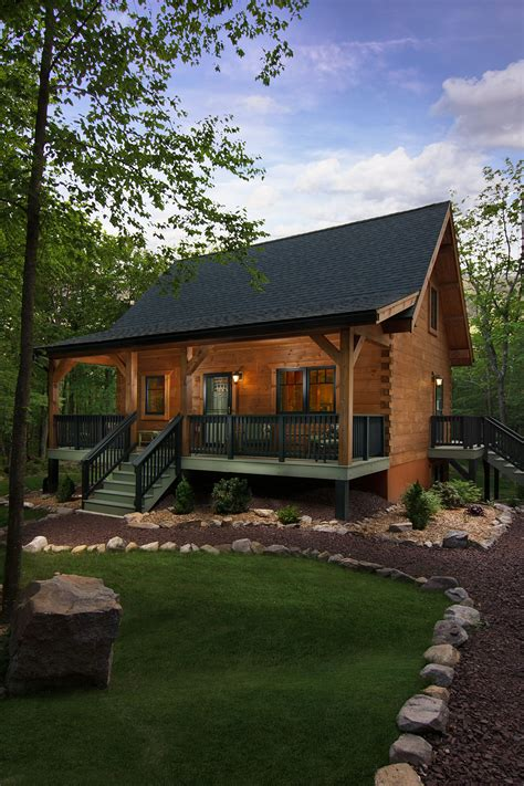 Home Plans With Front Porch by Exterior Of Log Home Log Home Exterior Log Home With