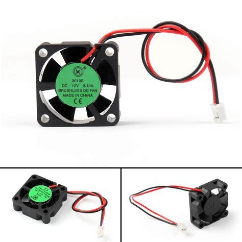 1pcs dc brushless cooling pc computer fan 12v 3010s 30x30x10mm 0 13a 2 wire ebay