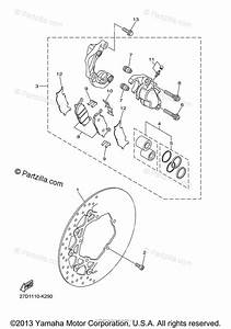 Yamaha Motorcycle 2011 Oem Parts Diagram For Front Brake