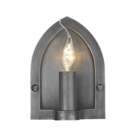 wall light pewter arts and crafts rustic