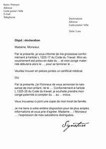 Lettre Declaration Sinistre : lettre de d claration naissance employeur mod le de lettre ~ Gottalentnigeria.com Avis de Voitures