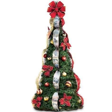thomas kinkade decorated pre lit pull up christmas tree 4 ft christmasshack