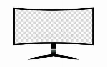 Monitor Blank Elements Template Screen Mock Isolated