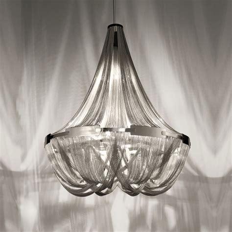Silver Chain Chandelier by Italian Designer Silver Chain Chandelier Juliettes Interiors