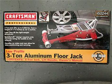 craftsman low profile jack on popscreen