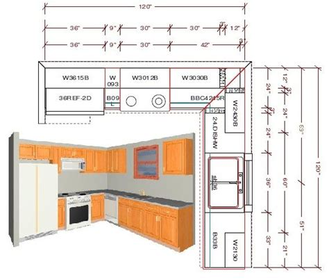 Kitchen Design Standards by Standard 10x10 Kitchen Cabinet Layout For Cost Comparison