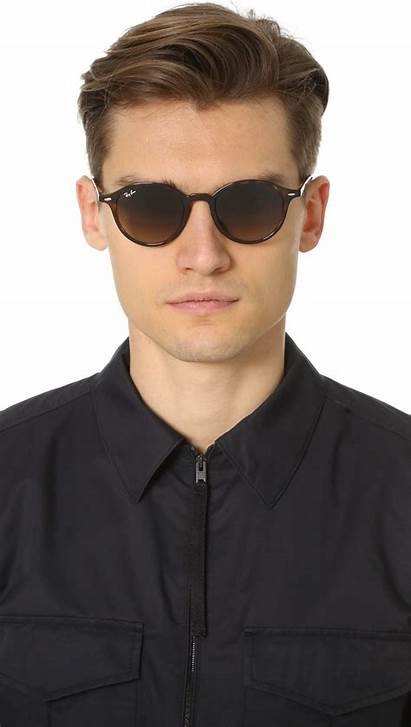 Sunglasses Round Ban Ray Brown Lyst