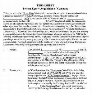 term sheet template 14 download free documents in pdf With acquisition term sheet template