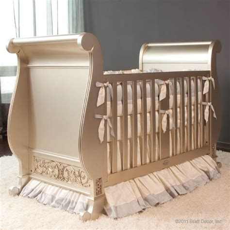 Bratt Decor Crib Satin White by Cribs Rosenberry Rooms